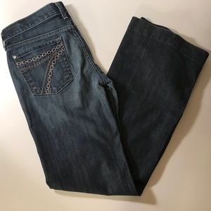 7 For All Mankind Chain Dojo Flare Jeans 28Wx32L